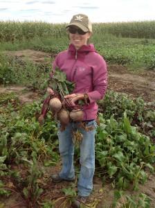 Lauren Brzozowski Harvesting Beets (2)