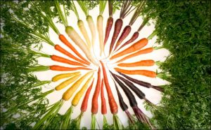 Carrot color arrangement